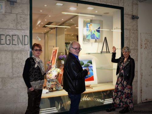 4 artistes inaugurent la nouvelle galerie legend à Juan-les-Pins