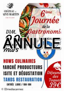 ANNULEE – 6ème Journée de la Gastronomie