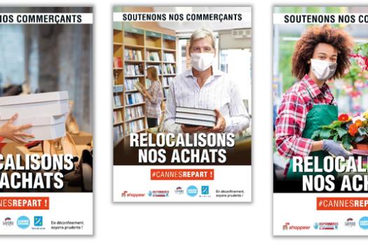 Soutenons nos commerçants, relocalisons nos achats … une campagne de communication de la Mairie de Cannes