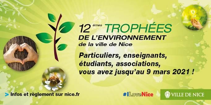 La Ville de Nice lance les 12e Trophées de l'Environnement … Inscriptions du 18 janvier au 9 mars 2021