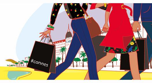 """"""" Sales and the city """" … soldes d'hiver festives à Cannes"""