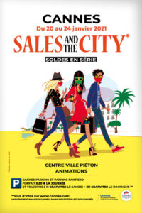 "Soldes d'hiver "" Sales and the city "" (  Cannes piéton & animations )"