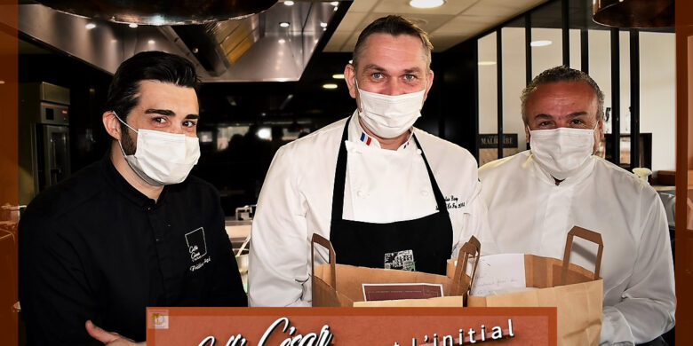 Frédéric Bogé, Nicolas Davouze, Thierry Molinengo … menu pascal à 6 mains au Caffé César Opio